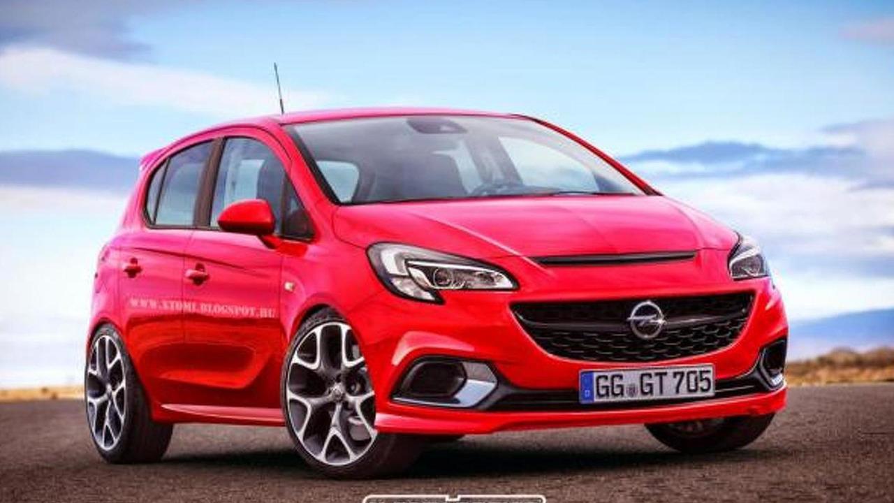 2015 Opel Corsa OPC five-door render