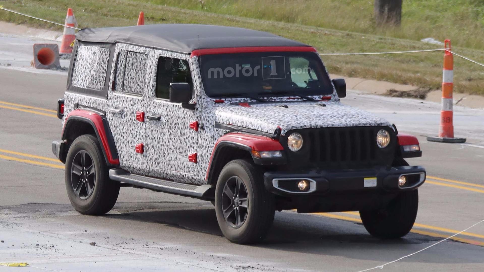 jeep wrangler fleet spied on the move including soft top models. Black Bedroom Furniture Sets. Home Design Ideas