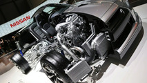 Nissan GT-R cut away model revealing 480hp3.8 Twin Turbo Engine