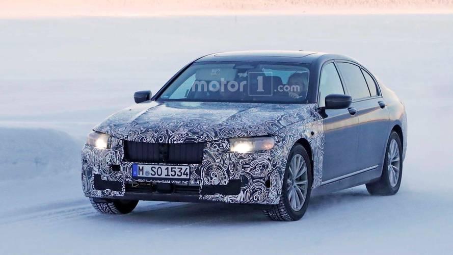 Makyajlı BMW 7 Serisi soğuk havada yakalandı