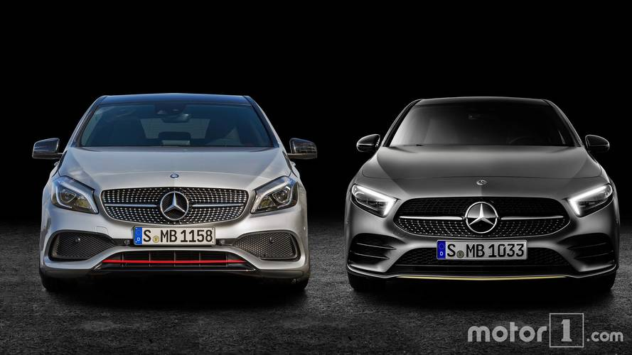 New and old Mercedes A-Class side-by-side