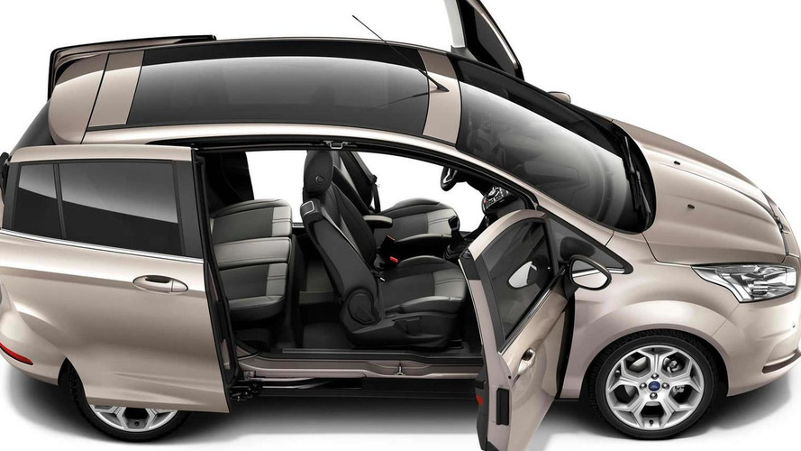 Ford B-Max sliding doors reveal pillarless design