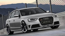 2014 Audi Rs4 Avant artist rendering following uncovering of alleged leaked front bumpers