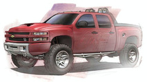 Big Red Chevrolet Silverado Concept