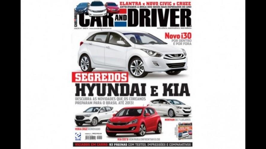 Revista Car and Driver mostra Novo i30 e diz que Kia Ceed virá ao Brasil