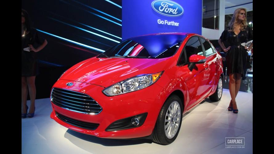 Salão do Automóvel: New Fiesta Sedan reestilizado faz estreia mundial acompanhado do hatch - Modelos terão câmbio Powershift e n