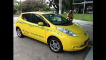 Frota de táxis elétricos Nissan Leaf no Rio já rodou 900 mil km sem emissões