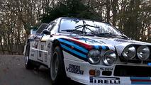 Lancia 037 Noel ağacı çekiyor