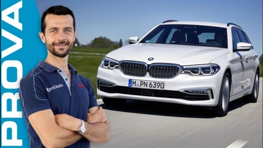 BMW Serie 5 Touring, in prima classe con famiglia [VIDEO]