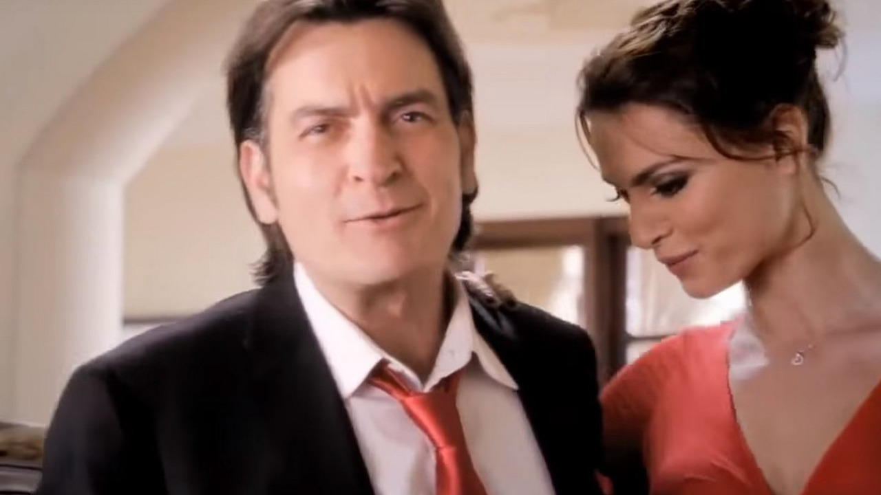 Charlie Sheen and Catrinel Menghia