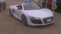 Audi R8 spider spy photo - low res