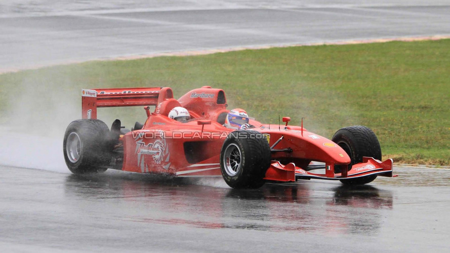 Ferrari F1 3-seater Marlboro Red Rush spied testing in Fiorano