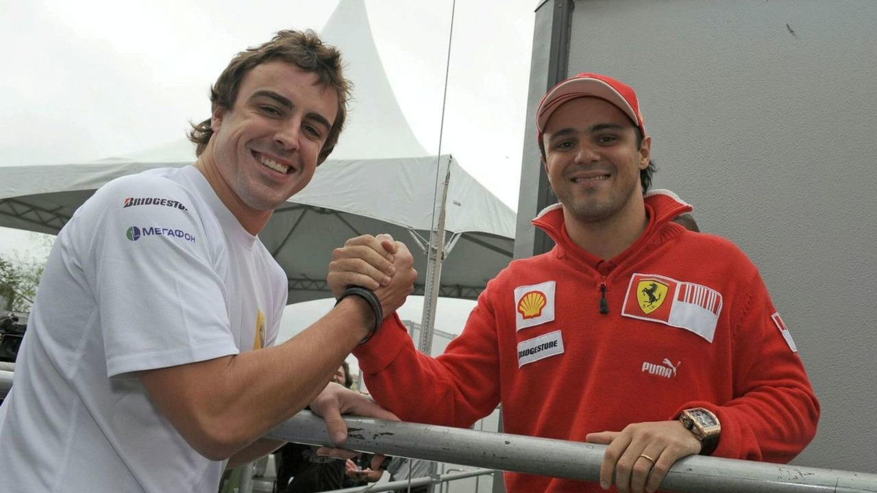 Fernando Alonso and Felipe Massa, Brazilian Grand Prix, Friday Practice, Sao Paulo, Brazil, 16.10.2009