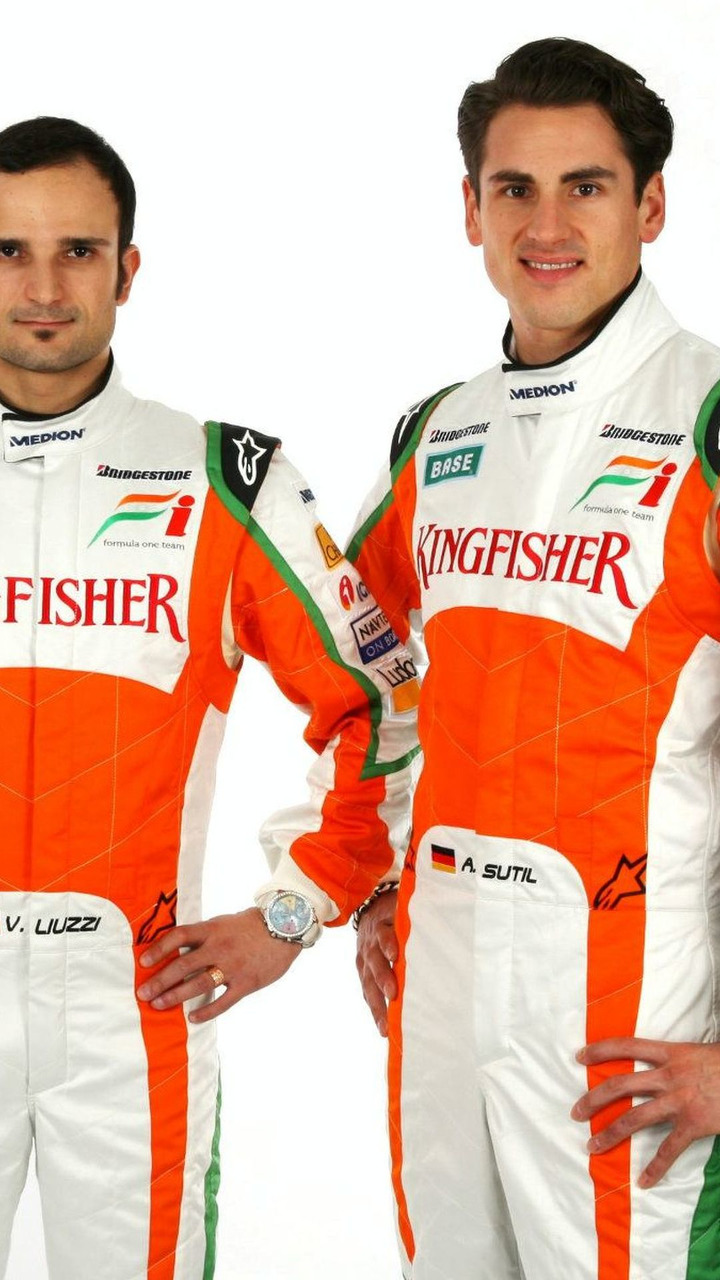 Vitantonio Liuzzi (ITA) and Adrian Sutil (GER) Force India drivers