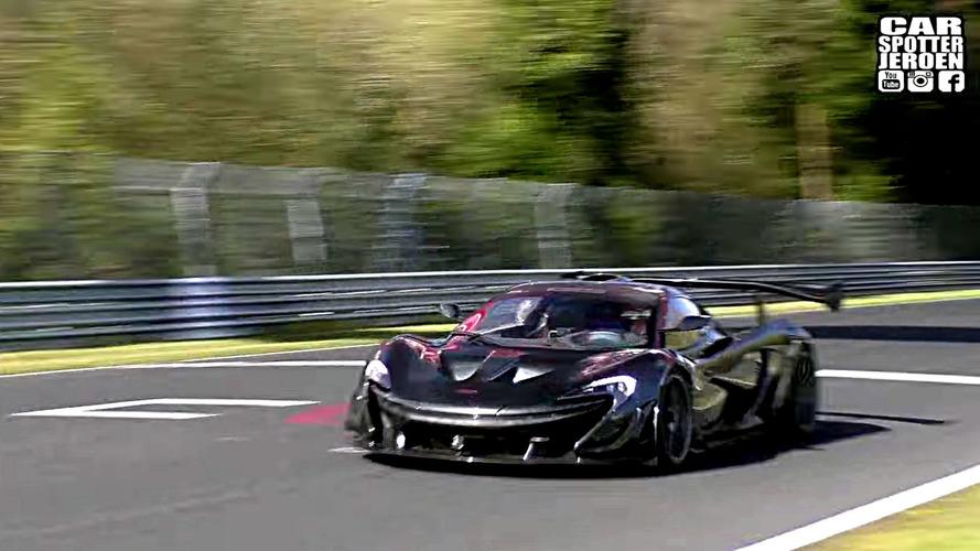 McLaren P1 GTR LM'den Nürburgring'de kıvılcım şov