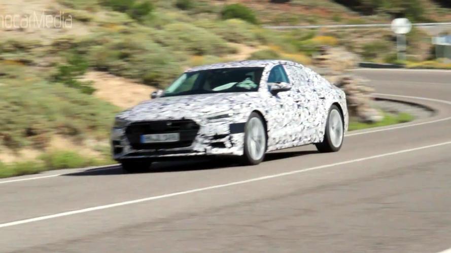 Next-Gen Audi A7 Sportback Spied On Video Negotiating Curvy Roads