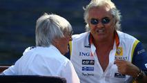 Bernie Ecclestone (GBR) and Flavio Briatore (ITA), Monaco Grand Prix, Monte Carlo, Monaco, 22.05.2008