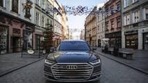 2019 Audi A8'in Polonya'da Çekilmiş Fotoğrafları