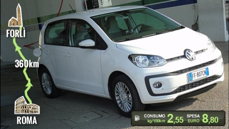 Volkswagen eco up!, la prova dei consumi reali [VIDEO]