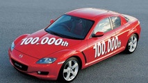 Mazda RX-8 number 100,000 rolls out