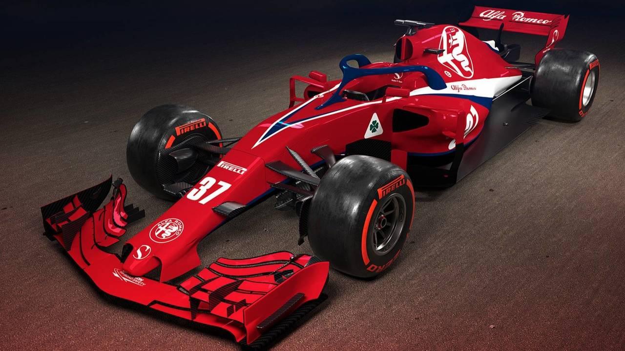 Alfa Romeo Sauber F1 car render   Motor1.com Photos