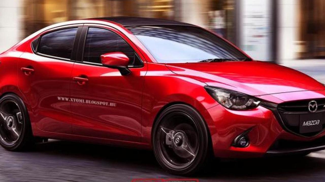 Mazda2 MPS Sedan rendering / X-Tomi Design