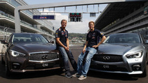 Sebastian Vettel & David Coulthard at Sochi GP circuit