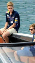 Fabian Vettel with Sebastian Vettel / Fabian Vettel official Tumblr channel