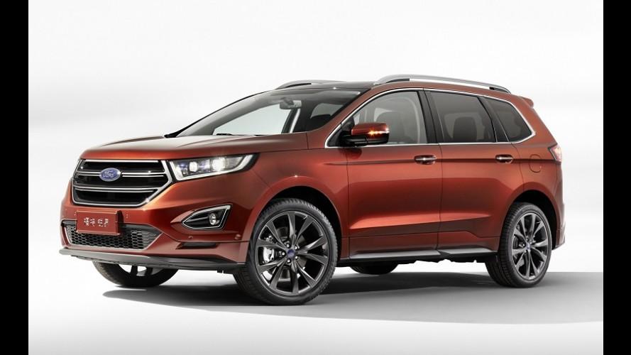 Ford Edge 2015 fica grandão com versão de 7 lugares exclusiva para a China