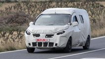 Dacia Lodgy MPV as a commercial vehicle spied