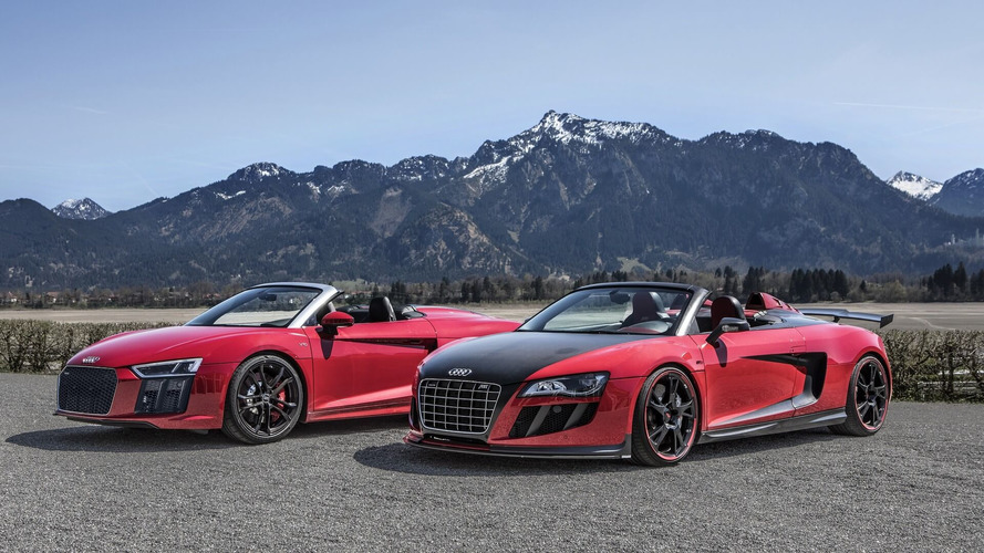 Spyder Invasion In The Alps: Audi R8 RWS Meets The R8 GT S By ABT