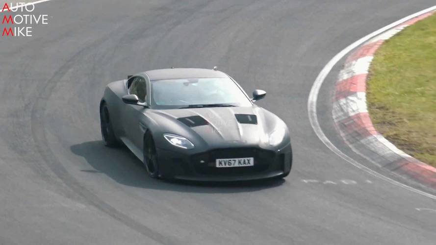 Aston Martin DBS Superleggera Spied Looking Mean While Lapping 'Ring