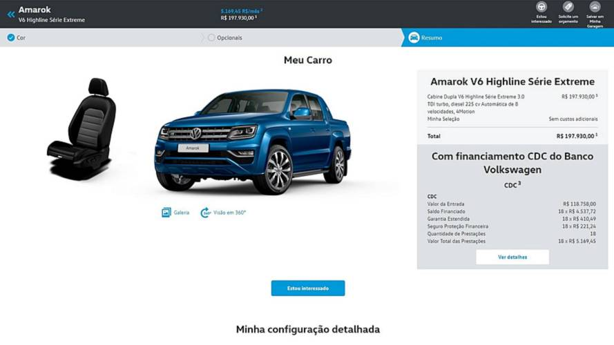VW Amarok V6 Extreme - configurador