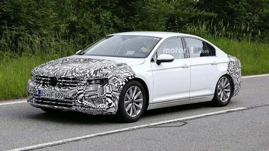 2019 vw passat spied hiding facelift for europe. Black Bedroom Furniture Sets. Home Design Ideas