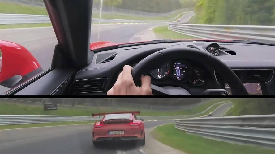 Porsche 911 GT3 Stalks 911 GT3 RS At The Nürburgring