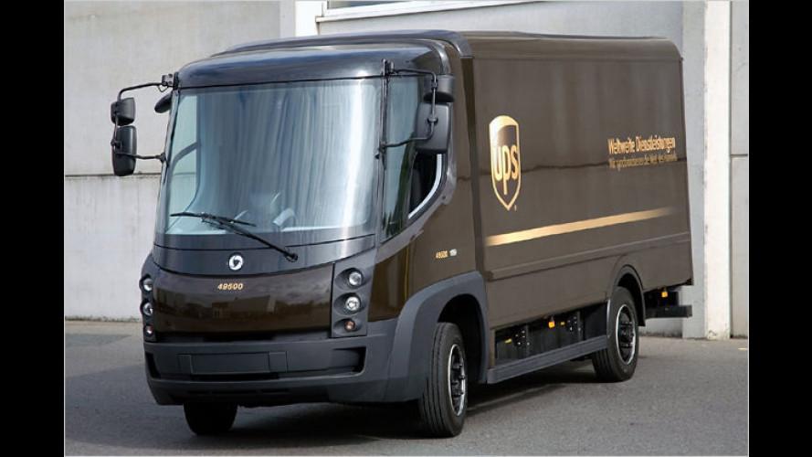 Paketdienst unter Strom: UPS mit Elektrofahrzeug in Hamburg