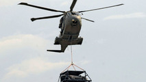 Reventon Flies Over Turin by Military Helicopter