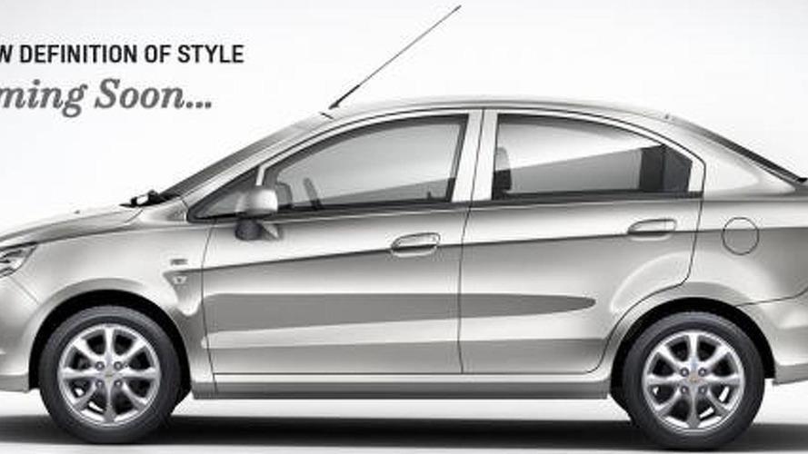 Chevrolet Sail sedan revealed for India