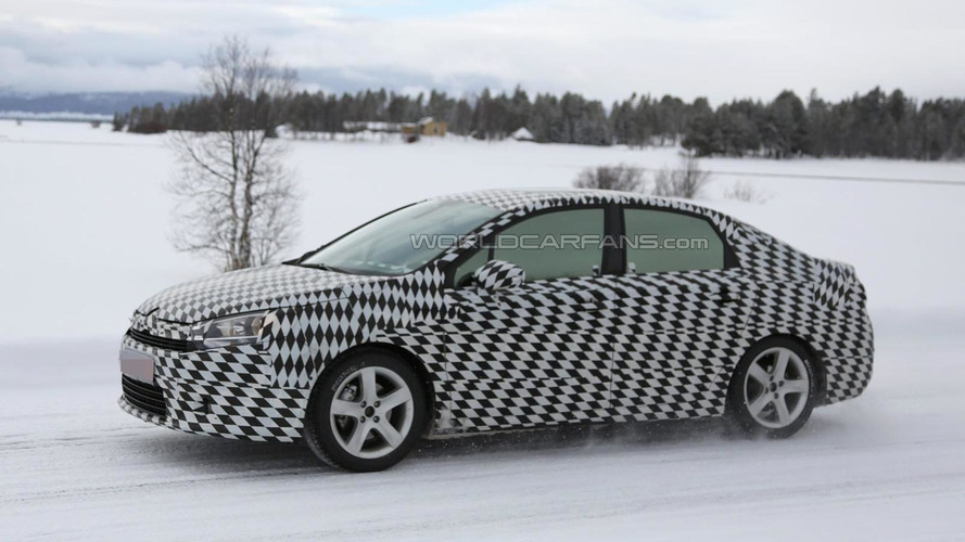 Mysterious Citroen compact sedan spied testing once again