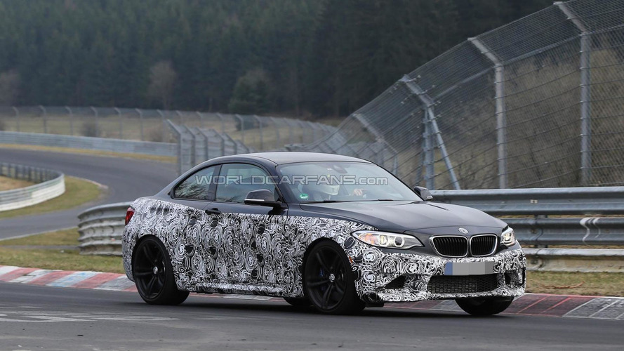 BMW M2 spied with full production body for the first time