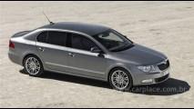 Primo do VW Passat: Skoda revela imagens oficiais do sedan Superb 2008