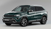 2017 Jeep compact SUV render