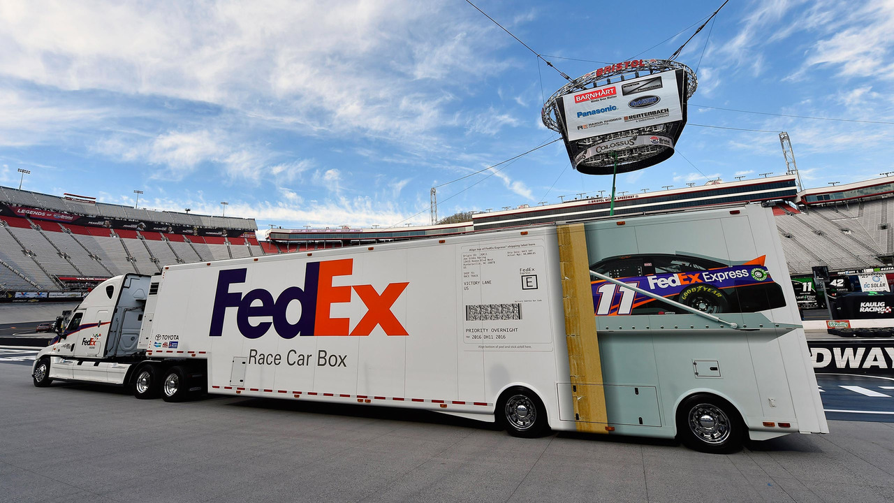 Denny Hamlin Ships His Car To Each NASCAR Race Using FedEx