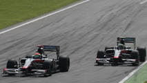 Sakon Yamamoto (JPN), Hispania Racing F1 Team HRT and Bruno Senna (BRA), Hispania Racing F1 Team HRT - Formula 1 World Championship, Rd 14, Italian Grand Prix, Sunday Race, 12.09.2010 Monza, Italy