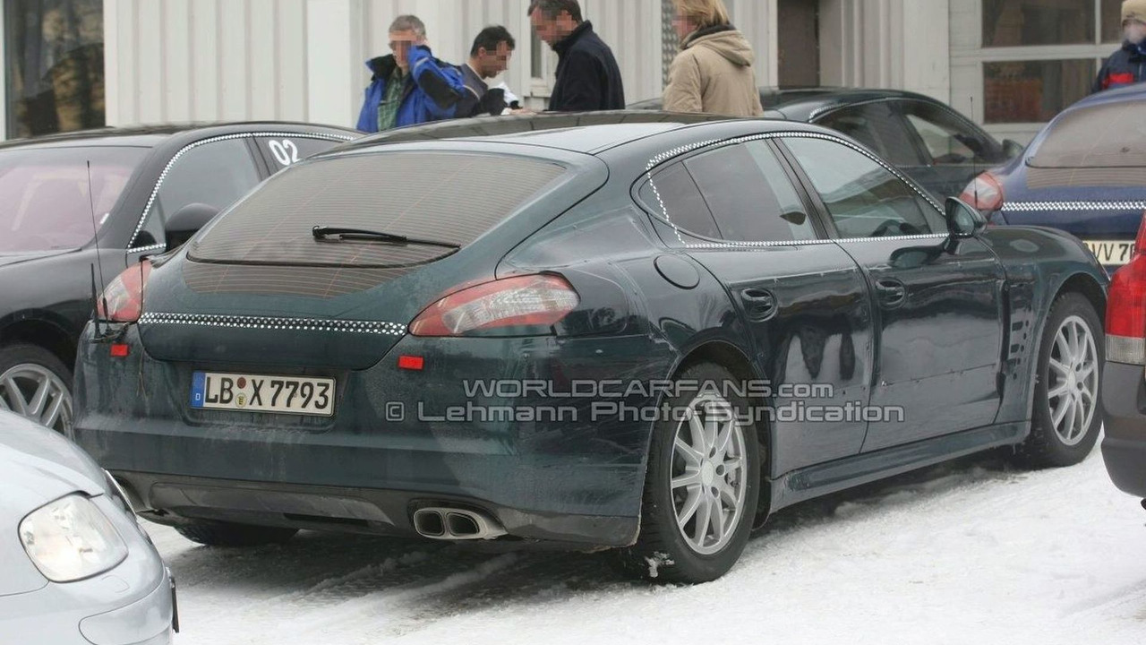 Rear shots of Porsche Panamera