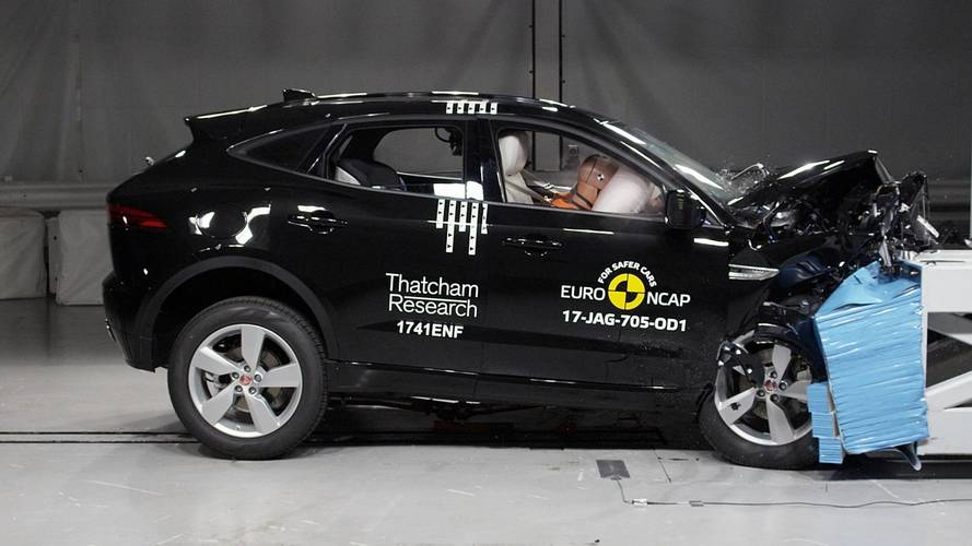 Recém-lançado no Brasil, Jaguar E-Pace alcança 5 estrelas no Euro NCAP