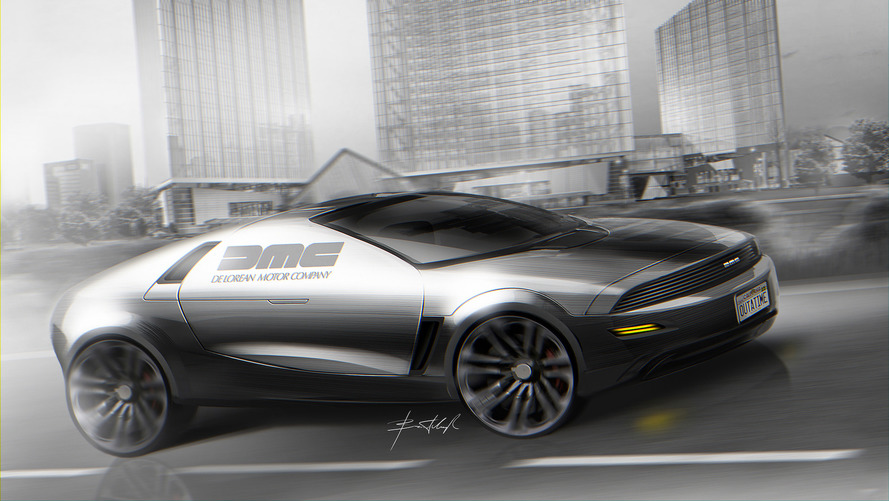 Designer dreams up a modern DeLorean sports car