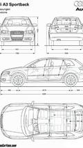 Audi A3 Sportback body dimensions
