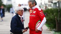 Bernie Ecclestone with Maurizio Arrivabene, Ferrari Team Principal