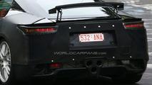 Lexus LF-A production version spy photo on Nurburgring
